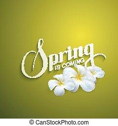 Spring season label