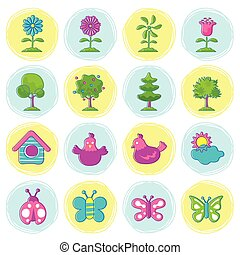 Spring Season Object Icons