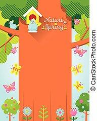 Spring Season with Bird & Tree