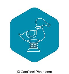 Spring see saw icon, outline style - Spring see saw icon. ...