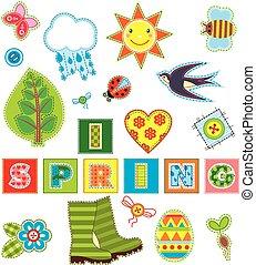 Spring Set Textile Element