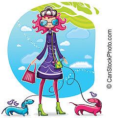 Spring shopping girl series 6