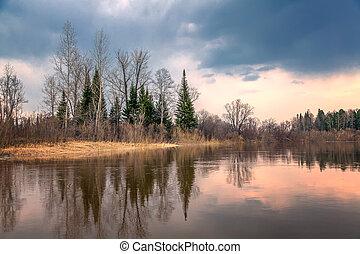 Spring Siberian landscape
