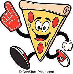 spring, skum, pizza, hand