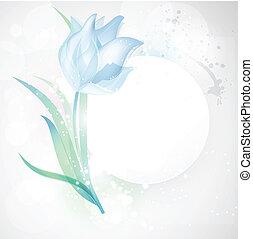 spring snowdrop for invitation