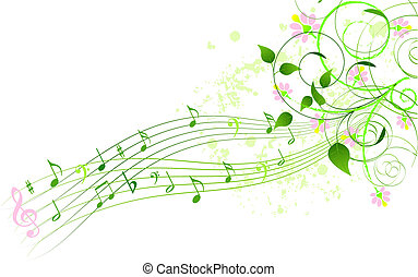 Spring song background - Abstract spring song background