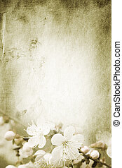 spring - special paper texture ,toned and grunge f/x