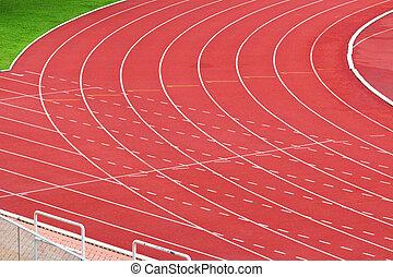 spring, sport, spåra