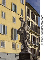 Spring statue on the Santa Trinita bridge - Spring statue on...