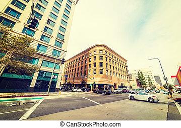Spring Street in downtown Los Angeles