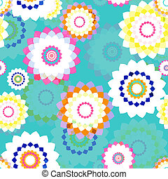 Seamless Background - stylized flowers. EPS10 vector.