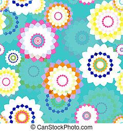 Spring Stylized Flowers - Seamless Background - stylized...