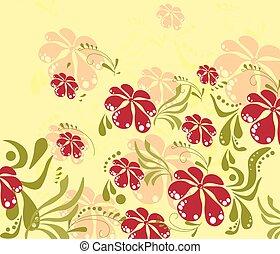 Spring Summer colorful flower background