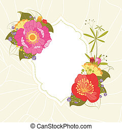 Spring Summer Colorful Flower Garden Party Background