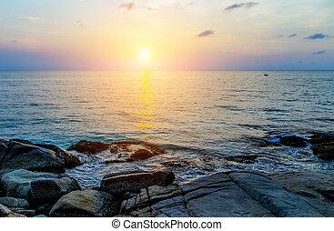 Spring Sunrise tropical sky sea