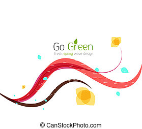 Spring swirls abstract wave background