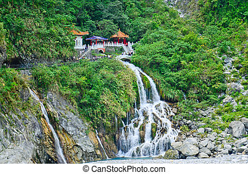 spring), taroko, parque, nacional, (eternal, -, changchun,...