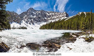 Spring thaw at Rawson Lake