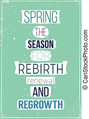 Fresh spring motivational poster with quote