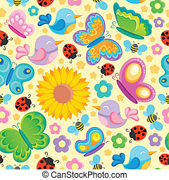 Spring theme seamless background 1