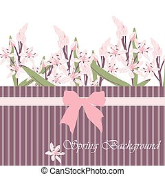 Spring Time Card with pink flowers