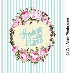 Spring background with Sakura flowers