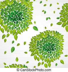 Spring time contemporary green leaves seamless pattern. EPS10 vector file organized in layers for easy editing.