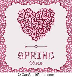 Spring time doodle card.