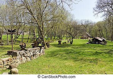 Spring time in village