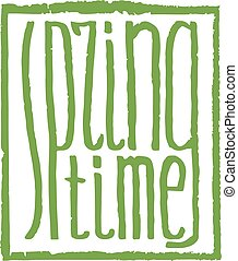 spring time lettering