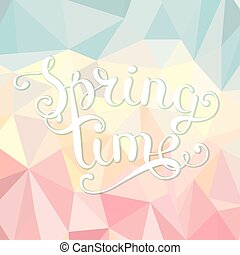 Spring time polygonal background.