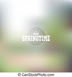 Spring time poster, vector web and mobile interface template. Blurred mesh background.