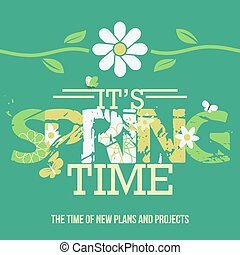 Spring Time Typographic Poster