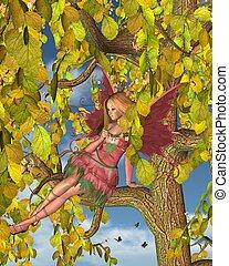 Spring Tree Blossom Fairy