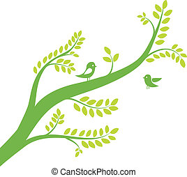 Tree With Birds Vector 3322231