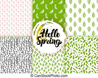 Spring Trendy Seamless Patterns