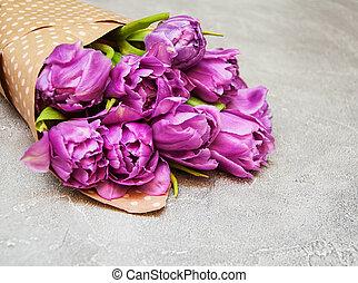 Spring tulip flowers