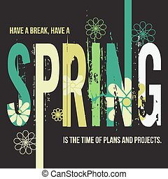 Spring Typographic Design Poster