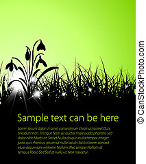 Spring vector grass background with place for your text