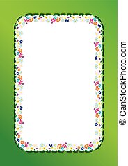 Spring vector illustration frame