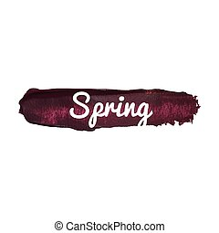 Spring vector word hand drawn illustration icon card isolated quote