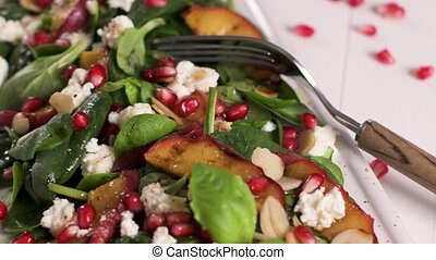 Spring vegetable salad - Fresh vegetable salad with grilled...