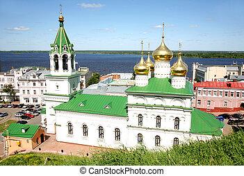 Spring view Church Nativity John Precursor Nizhny Novgorod