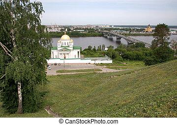 Spring view of Annunciation Monastery Nizhny Novgorod Russia