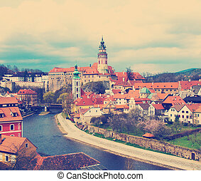 Spring view of Cesky Krumlov. Czech republic - instagram ...