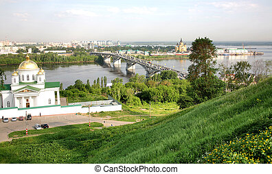 Spring view of Niznhy Novgorod Russia