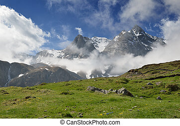 Spring view of the mountains, Pyrenees