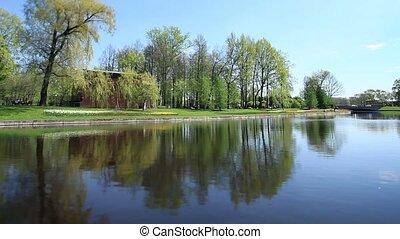 Spring  views scenic river