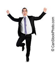 spring, vinnare, affärsman