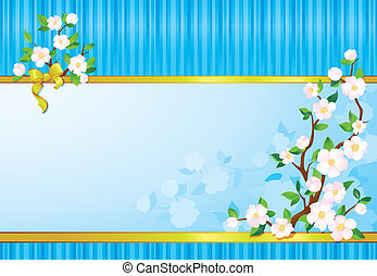 Spring wallpaper - seasonal multicolour background with...